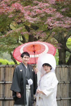 紅葉 水前寺公園 日本庭園 和装 スタジオフィール
