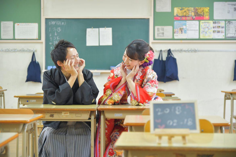 学校 前撮り 香椎高校 同級生 スタジオフィール