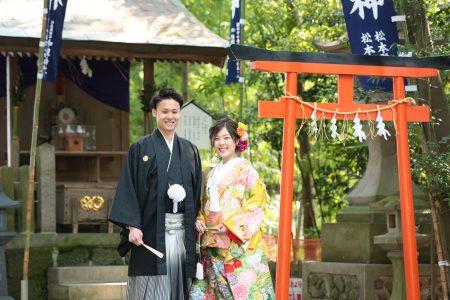 熊本 加藤神社 和装前撮り スタジオフィール