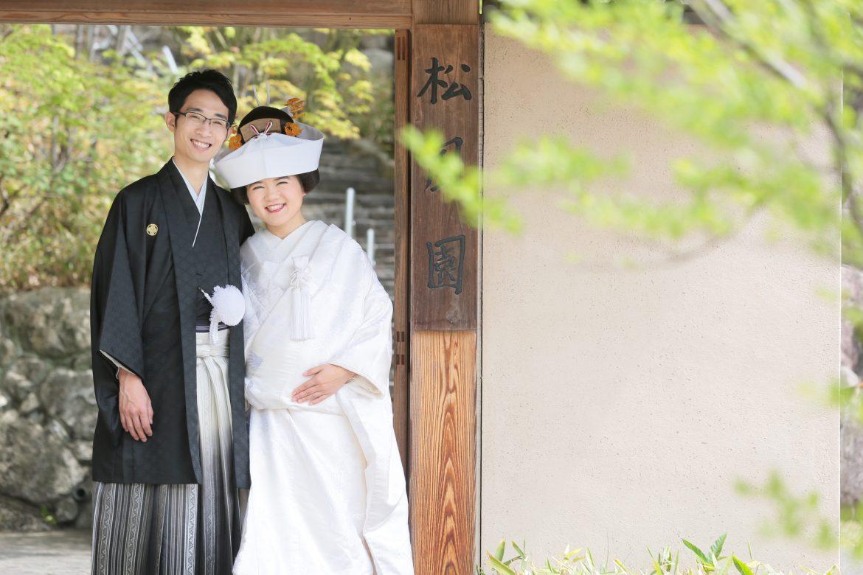 福岡 桜 和装前撮り 松風園 スタジオフィール