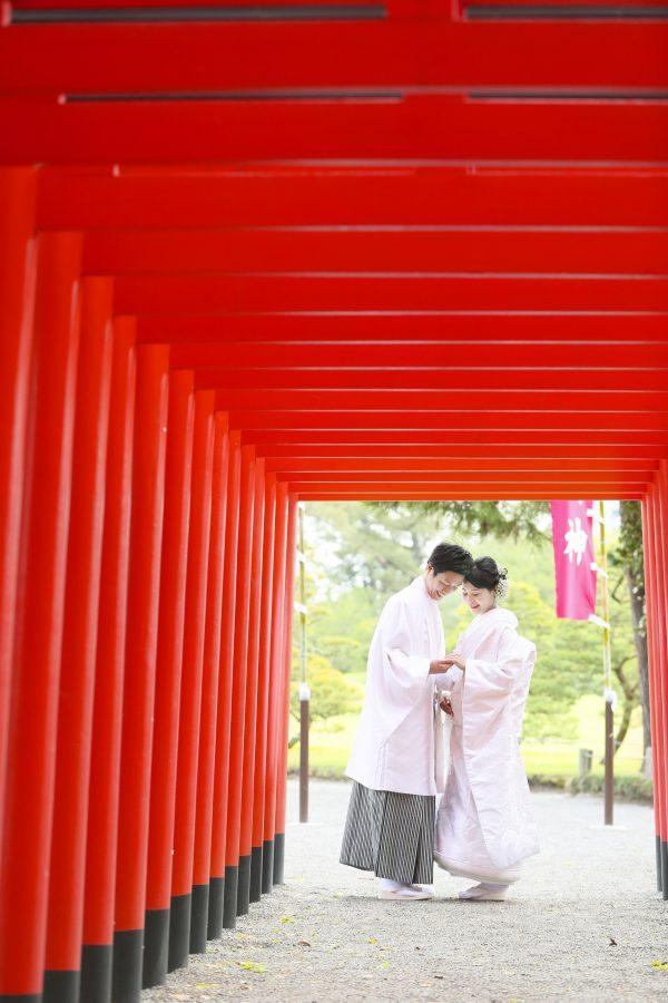 水前寺公園 和装前撮り スタジオフィール 婚礼