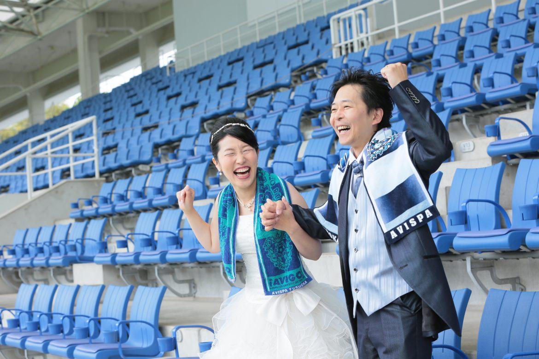 福岡 レベルファイブスタジアム アビスパ 前撮り 婚礼撮影 ドレス 洋装