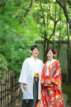 福岡 友泉亭 スタジオフィール 和装 色打掛 白無垢日本庭園 婚礼 婚礼前撮り