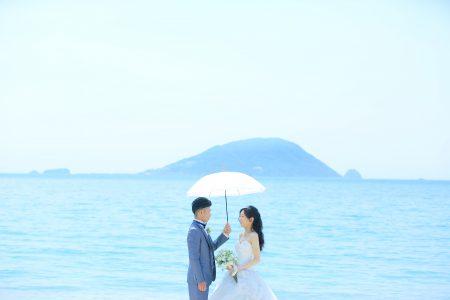 海 ドレス 前撮り 福岡 スタジオフィール 婚礼