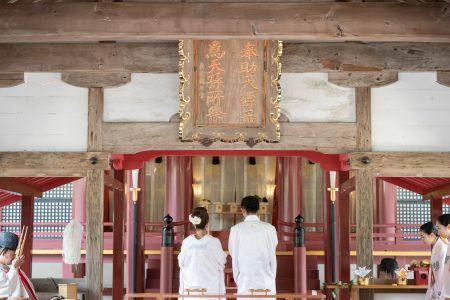 宗像大社 神社挙式 福岡 宗像  スタジオフィール 和婚 白無垢