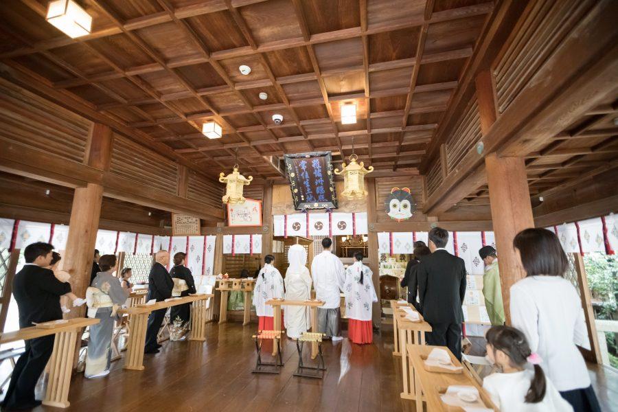 神社挙式 福岡 宇美八幡宮 スタジオフィール 和婚 白無垢