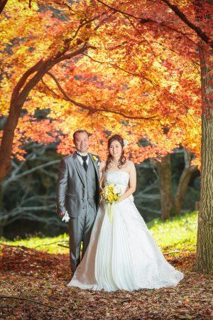 熊本 スタジオフィール ドレス前撮り ウエディングドレス 紅葉