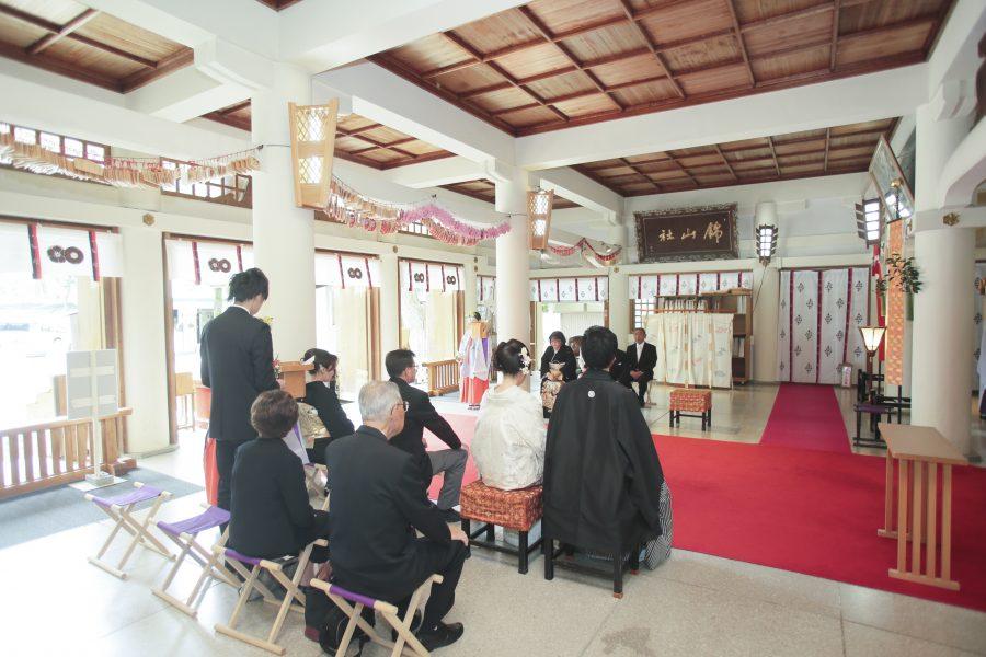 熊本城 復興 神社挙式 加藤神社 白無垢 色打掛 スタジオフィール