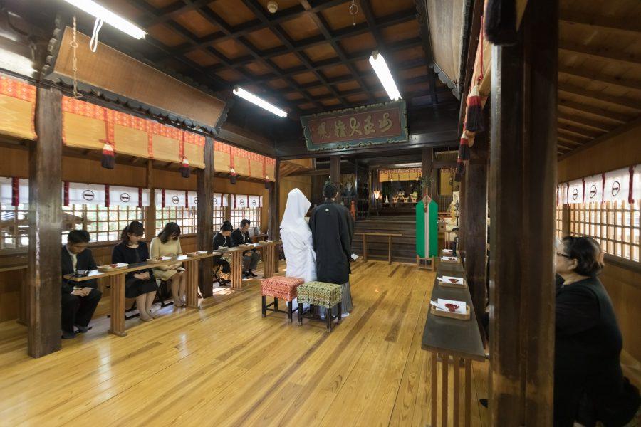 柳川 日吉神社 和婚 神社挙式 スタジオフィール 白無垢 色打掛
