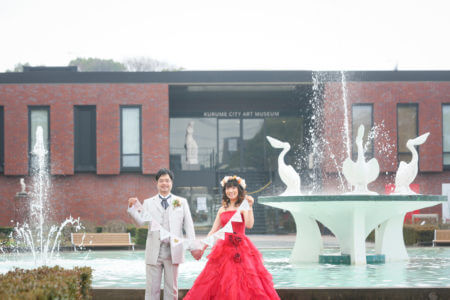 久留米 石橋文化センター ドレス前撮り スタジオフィール