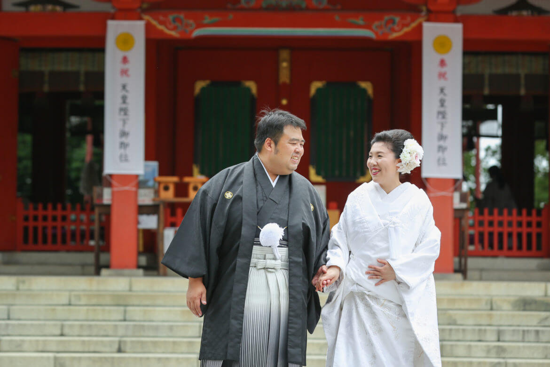 熊本市、藤崎八旛宮での神社挙式