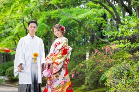 【福岡店】超格安、和装1着プランキャンペーン-福岡、日本庭園和装前撮り