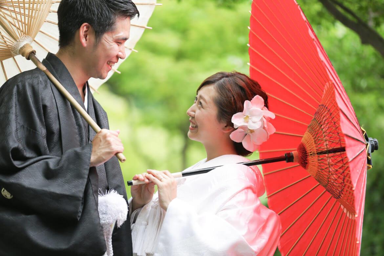 小倉城庭園で白無垢撮影