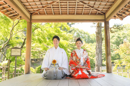 広島 縮景園和装前撮りプラン-