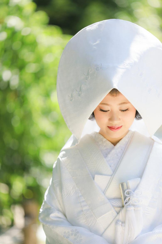 木漏れ日の中の花嫁様
