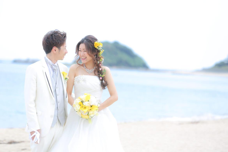 志賀島でのドレス前撮り