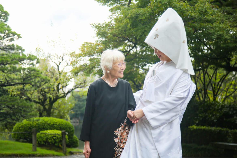 大好きなおばあちゃんと一緒に