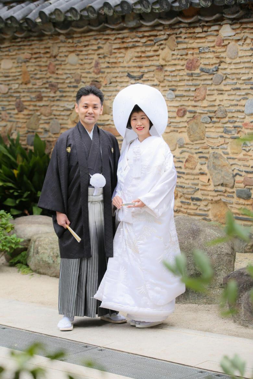 櫛田神社 白無垢 綿帽子