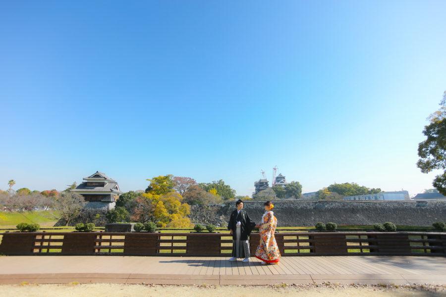 前撮り 熊本 熊本城 和装