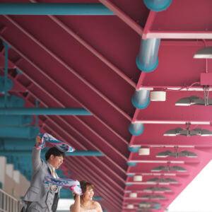 前撮り 福岡 駅前不動産スタジアム カクテルドレス
