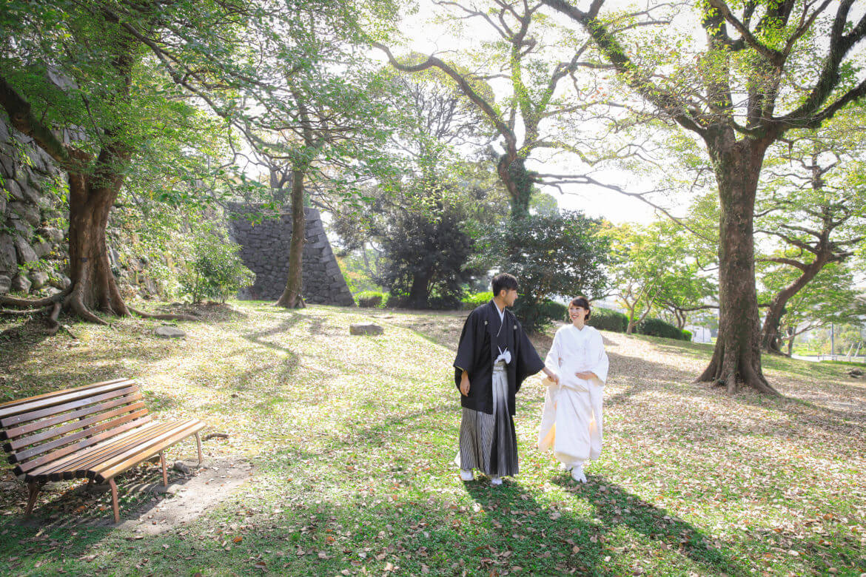 前撮り 福岡 舞鶴公園 和装