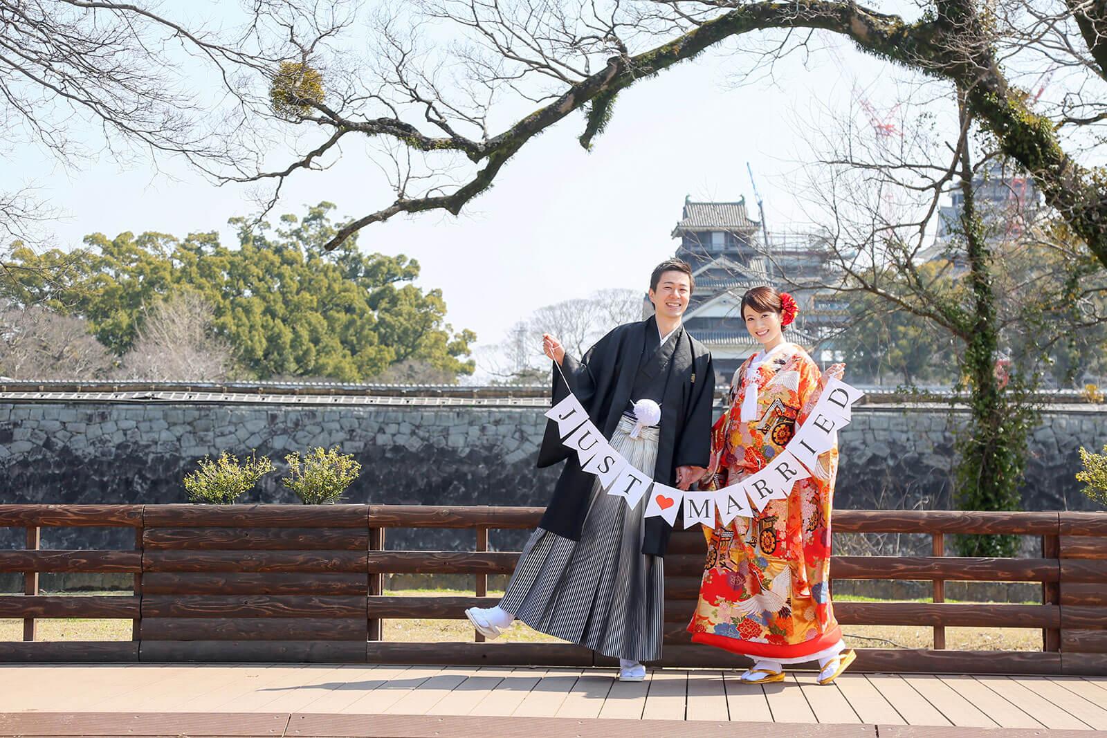 前撮り 熊本 熊本城