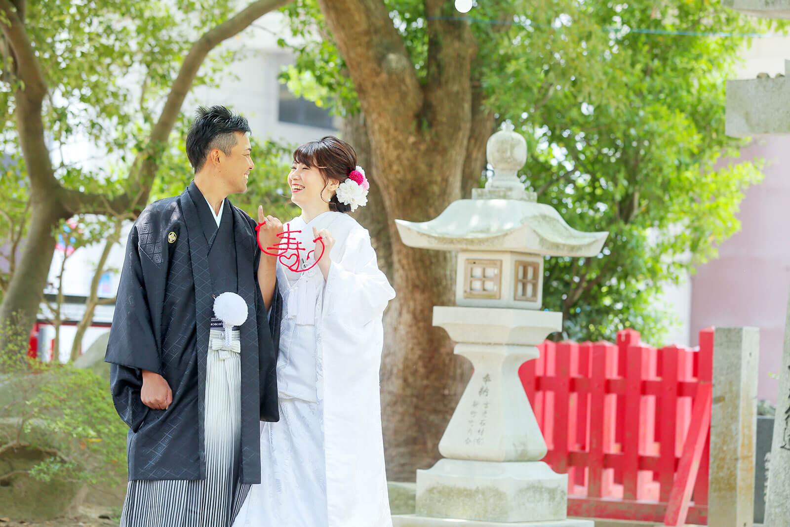 前撮り 佐賀 唐津神社 ドレス