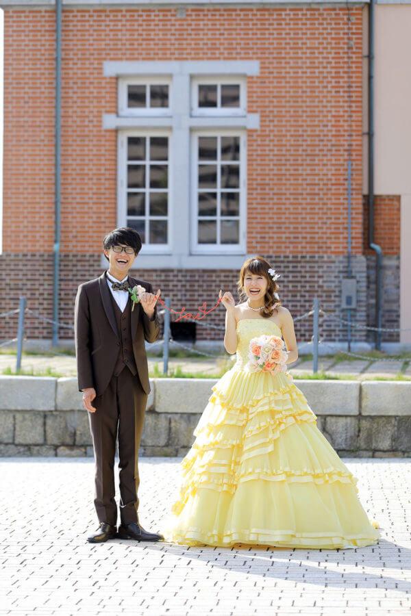 前撮り 山口 門司駅 ドレス