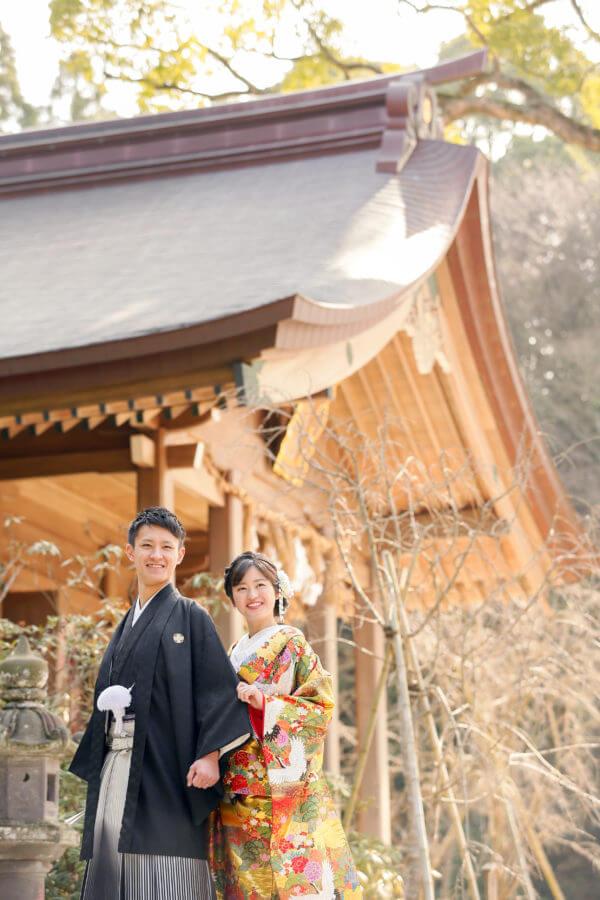 前撮り 福岡 竈門神社 和装
