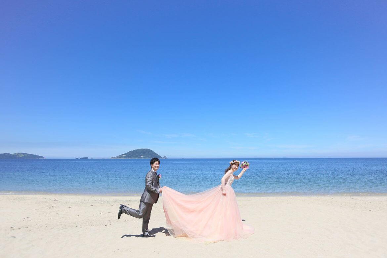 前撮り 福岡 志賀島 カラードレス