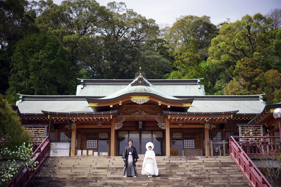 前撮り 長崎 諏訪神社 和装