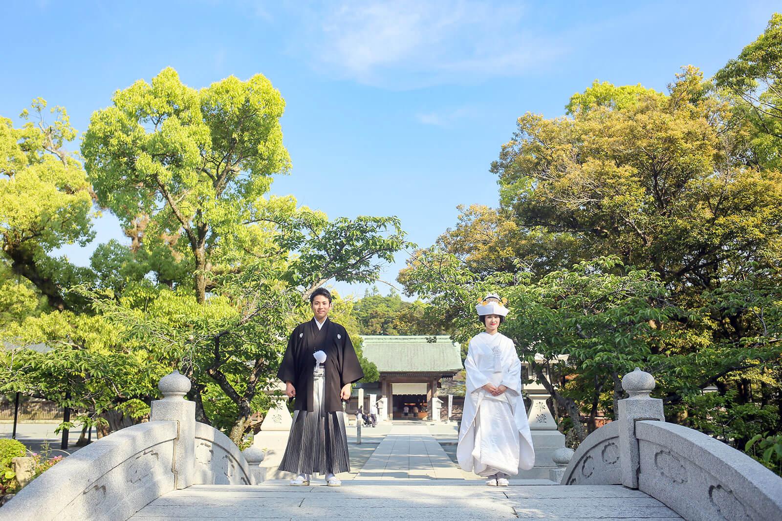 前撮り 福岡 神社 和装