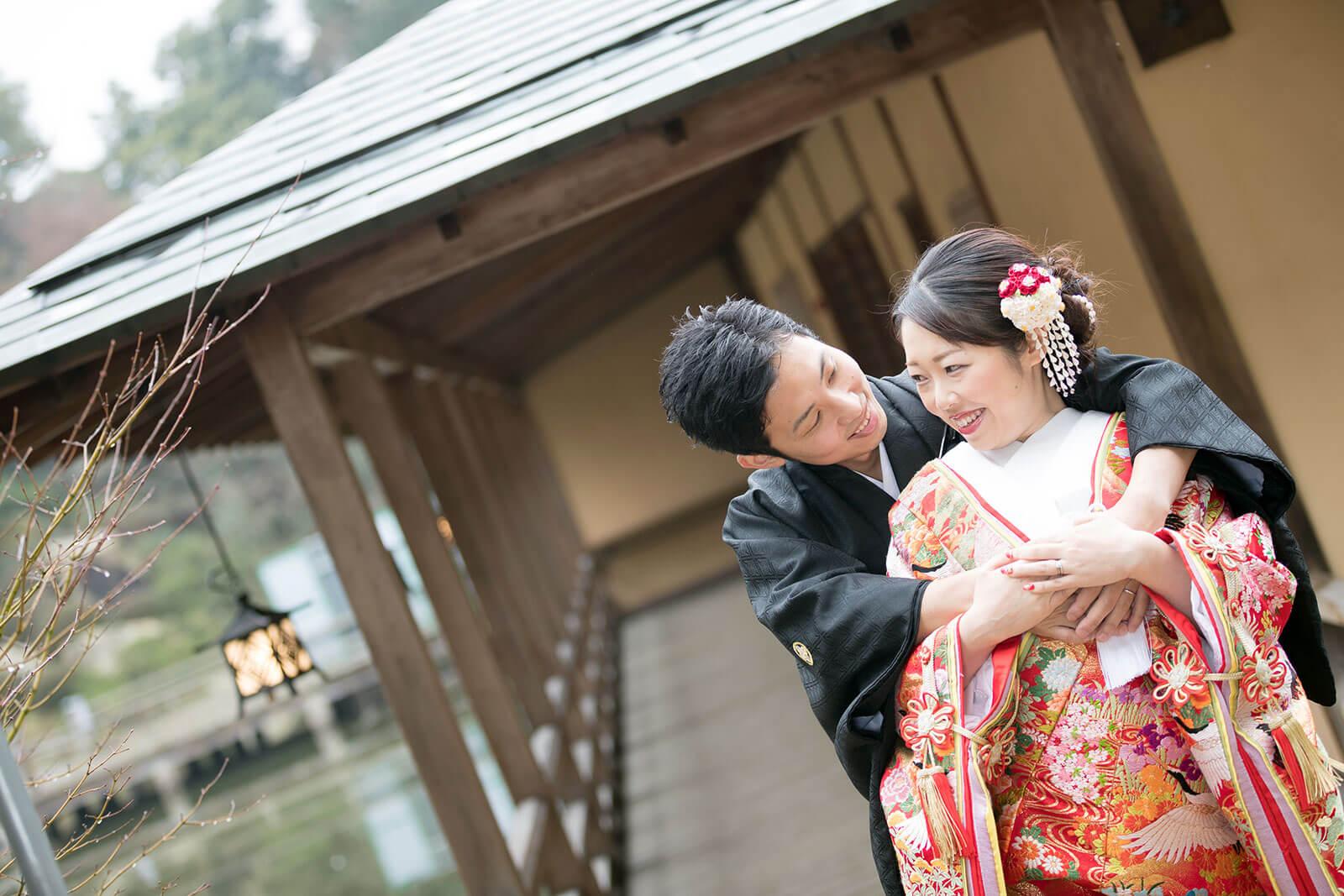 前撮り 広島 三景園 和装
