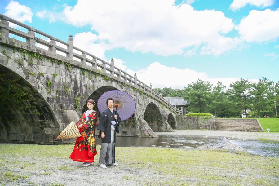 前撮り 鹿児島 石橋記念公園 和装