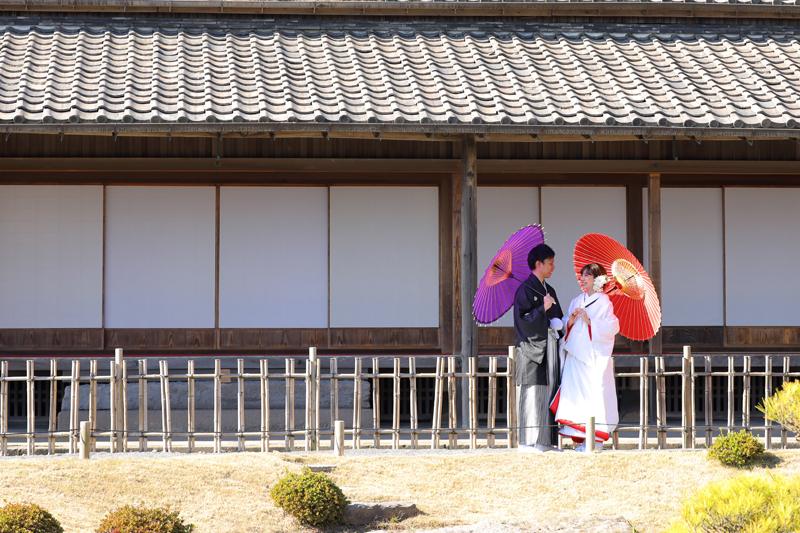 鹿児島 仙巌園 和装 前撮り 桜島