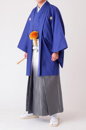 紋付袴 青