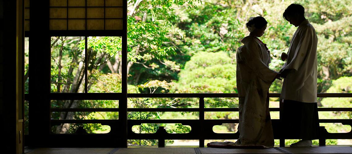 福岡日本庭園プランのご紹介 | 前撮り・結婚写真・ブライダル撮影専門スタジオフィール
